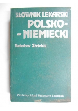 Słownik lekarski polsko-niemiecki