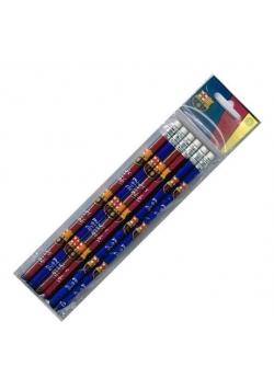 Ołówek FC Barcelona 6 sztuk