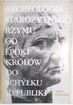 Archeologia starożytnego Rzymu od epoki, Tom I