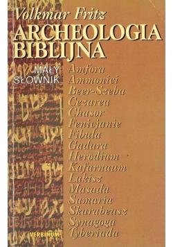 Archeologia biblijna. Mały słownik