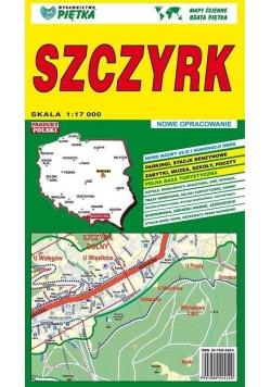 Szczyrk 1:17 000 plan miasta PIĘTKA