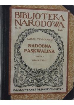 Nadobna paskwalina, 1926 r.
