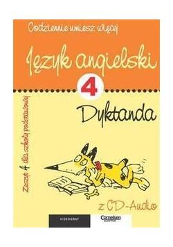 Język angielski. Dyktanda - Zeszyt 4 dla SP + CD