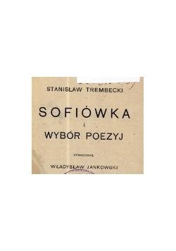 Dofiówka i wybór poezyj , 1925 r.