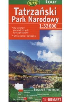 Tatrzański Park Narodowy mapa turystyczna 1:33 000