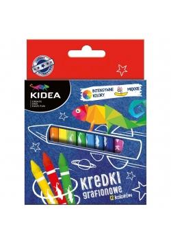 Kredki grafionowe 12 kolorów KIDEA