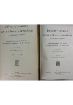 Dokładny słownik języka polskiego i niemieckiego w czterech tomach - dwa tomy