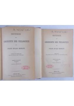 Grundriss der Geschichte der Philosophie, tom I-II, 1896 r.