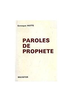 Paroles de prophete