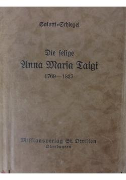 Die Selige Anna Maria Taigi, 1928 r.