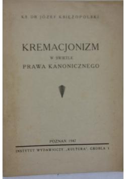 Kremacjonizm w świetle prawa kanonicznego, 1947 r.