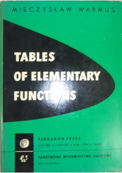 Tables of elementary functions