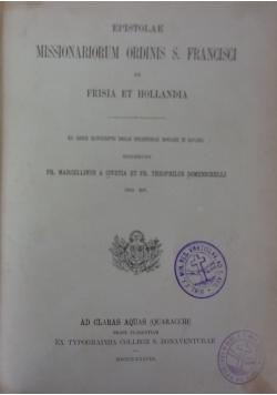 Epistolae Missionariorum Ordinis S. Francisci ex Frisia et Hollandia, 1888 r.