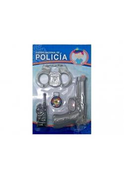 Zestaw Policjanta- kajdanki kompas krótkofalówka
