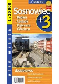 Plan Miasta Sosnowiec + 3 Miasta 1:20 000 DEMART