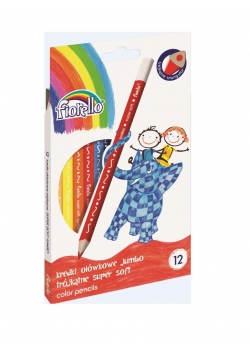 Kredki Super Soft Jumbo 12 kolorów FIORELLO
