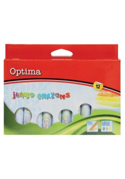 Kredki świecowe Jumbo 12 kolorów OPTIMA