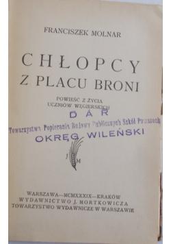 Chłopcy z placu broni,1939r.