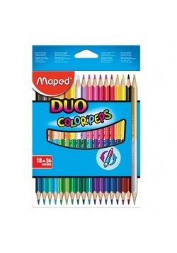 Kredki Colorpeps Duo dwustronne 18=36kolorów MAPED