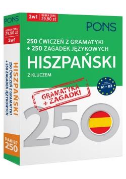 250 ćwiczeń z gramatyki Hiszpański + 250 zagadek
