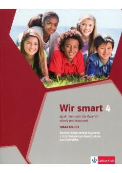 Wir Smart 4 Smartbuch Rozszerzony zeszyt ćwiczeń z interaktywnym kompletem uczniowskim klasa 7
