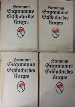 Hermann Stegemanns Geschichte des Krieges Tom I-IV, 1919 r.