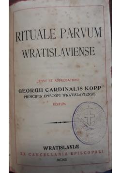 Rituale parvum Wratislaviense, 1910 r.