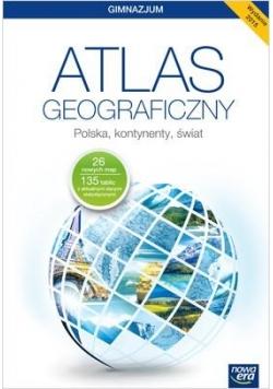 Atlas geogr. GIM Polska, kontynenty, świat w.2015