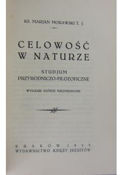 Celowość W Naturze, 1928 r.