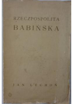 Rzeczpospolita Babińska, 1920 r.