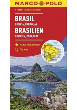 Mapy kontynentalne Brazylia...1:4 mil. MARCO POLO