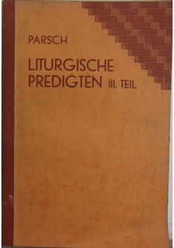 Liturgische predigten III. Teil,1931