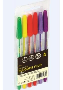 Długopis fluo 6 kolorów GRAND