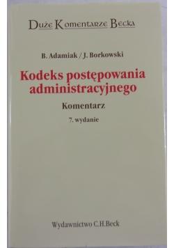 Kodeks postępowania administracyjnego 7 wydanie zaktualizowane i rozszerzone