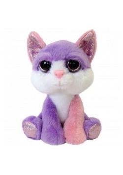 Mały różowo - fioletowy Kot 15cm