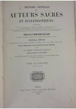 Histoire generale des Auteurs Sacres et ecclesiastiques, tom 11, 1862 r.