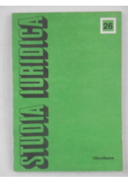 Studia Iuridica tom 26. Miscellanea