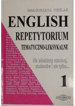 English. Repetytorium tematyczno-leksykalne