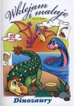 Wklejam i maluję - Dinozaury