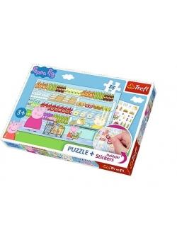 Puzzle 35 plus - Świnka Peppa na zakupach TREFL