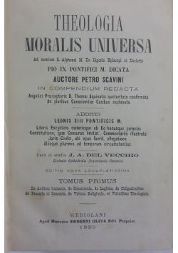 Theologia moralis universa , 1880 r.