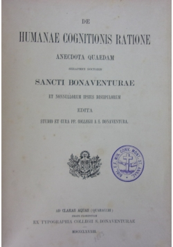 Humanae cognitionis ratione, 1883 r.