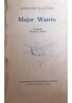 Major Watrin