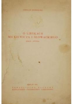 O lirykach Mickiewicza i Słowackiego