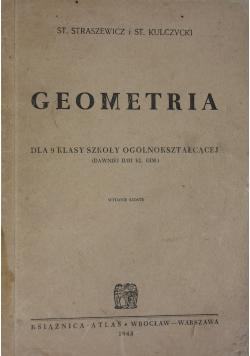 Geometria dla 9 klasy szkoły ogólnokształcącej, 1948 r.