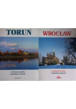Architektura i historia - Toruń i Wrocław, zestaw 2 książek