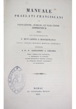 Manuale praleti franciscani, 1862r.