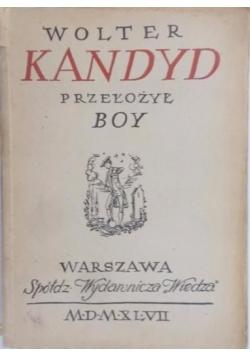 Kandyd, czyli optymizm, 1947 r.