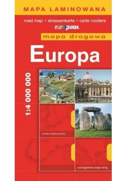 Mapa Drogowa EuroPilot. Europa laminat