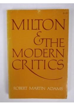Milton and the Modern Critics